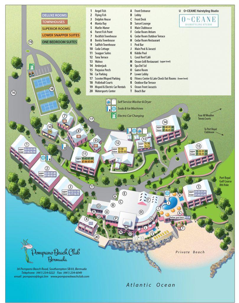 Pompano Beach Club Bermuda Map